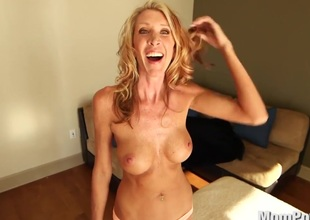 Horny MILF bonks and swallows