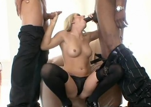 Sean Michaels and Marco Banderas in the same room...that's a whole lot of cock! Only one slut can handle this much shaft and it happens to be Kylee Reese! Watch as these two studs work her mouth and then pound deep in to her sexy pussy. Once she's got fuck