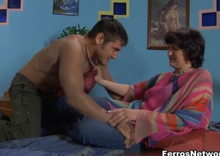 MaturesAndPantyhose Video: Emilia B and Govard