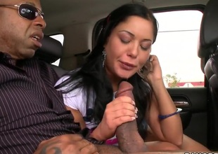 Lusty Angelica Heart takes on chubby monster cock