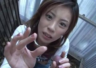 Natsumi Mitsu craves to devour this tasty penis