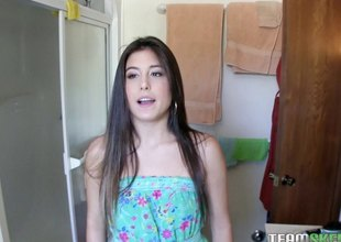 Sweet girl next door makes her first hardcore porn video