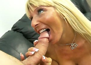 Blonde Kasey Storm gets her mouth attacked by guys thick sturdy love stick
