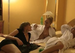 Three girls are bored as shit, and what do girls do when they are bored as shit They eat out their vaginas and bang each other with dildos in a threesome.