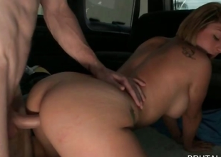 Sexy babe fucked doggie style