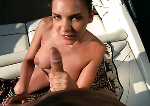 Brunette hair hottie Henessy having unthinkable backdoor sex