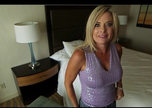 Aged Golden-haired Milf Pov