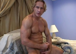 This hunky Hungarian has a romantic soul you'd never expect.Watch as Anthony Hardwood stroke his nice piece of meat for the camera.
