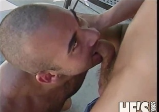 Two sexy young dudes are flirting under a canopy and we have to join into the scene as things go from sexy to sexual.  This 20 minute scene progresses smoothly from an extremely forward advance, stroking cock while standing jointly and talking, on to a fr