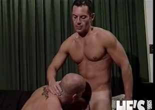 Logan Reed is one hawt Daddy...and Daddy can't live without the dick! In this scene you're going to watch Logan Reed engulfing on a hard dick in advance of getting his own cock gobbled on. He licks this hunks ass and then thrusts his cock right in and the two of 'em fuck until t