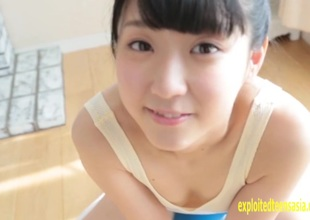 Amateur Rurika Mukushima Appears In Her Debut Movie Teddy Pulled Constricted Her Butt And Clunge Are Amazing Petite Beauty