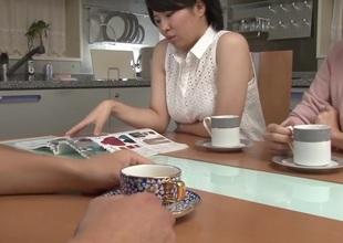 Superlatively good Japanese chick Yumi Kazama in Horny milfs, public JAV clip