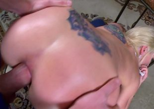 Horny hawt golden-haired has a huge ass that is perfect for anal sex