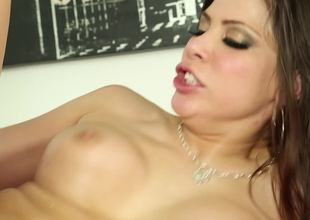 Sexy lady knows that cock and dildo can work together