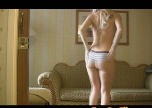 Blond Teen Chick Goes Wild On Cam