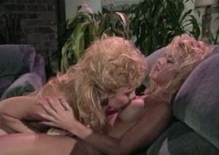Retro lesbians licking their tight holes