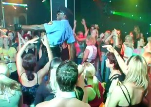 Amateur babes get hardcore fucking at a wild club party in a reality discharge