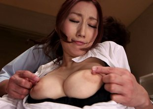 Ripped black hose hardcore sex with a breasty babe