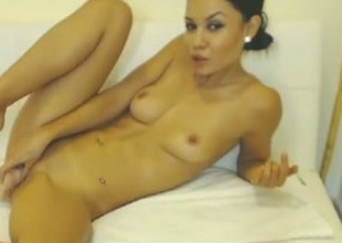 Pussy-toying session with hot brunette hair spinner aka me