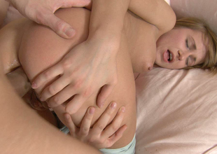 Adorable gal Lexie Owens gets her taut holes stretched