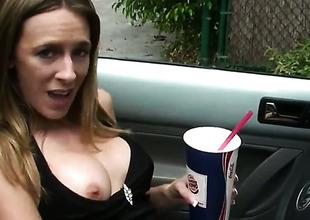 Hot blonde porn in the car