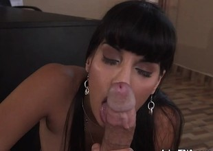 Hot Minx Mercedes Carrera Sucks And Sits On Big Cock