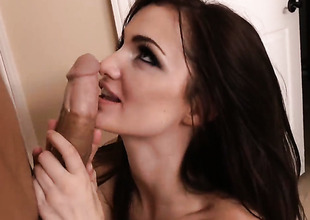 Lily Carter tries her hardest to make hard cocked dude Bruce Venture bust a nut
