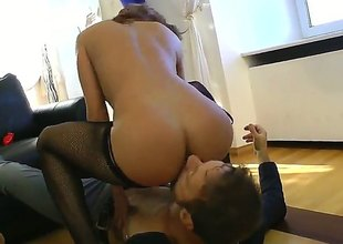 Rocco Siffredi enjoys incredibly sexy Milla Yuls tight anal hole in anal action
