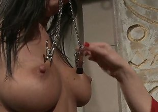 Aged Katy Parker with big jugs gets her fuck hole attacked by lesbian Chanels tongue