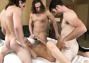 Emily Kae gets her mouth destroyed by dudes love torpedo