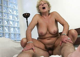 Blond Malya is not at any time sufficiently and takes guys throbbing chap meat in her mouth over and over again