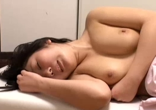 Blond Japanese sweetheart gets fucked during a massage
