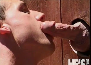 Here's a recent twist in the whole Glory Hole scene...how about if the Glory Hole was in the fence in Brent Banes' yard? Now let's say his neighbor is Patrick Allan...you see where I'm going with this? Find out this scene and you're plan to find out!
