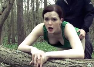 delicate girl outdoor fuck with a facial