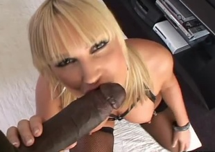 Anal slut Flower Tucci gets her holes stretched out good by Lex Steele's huge black dong in this scene. Watch as she sucks on his pole POV style before getting a-hole slammed and facialized by a thick load of chocolate nut sauce!